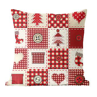YANGFAN Square Christmas Short Plush Pillow Case