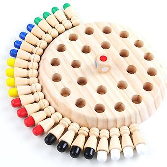 Wooden Memory Chess Game, Educational Color Cognitive Ability Toy