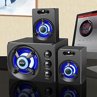 3D Stereo Subwoofer Bass, Pc Lautsprecher Tragbare Musik, USB Computer Lautsprecher