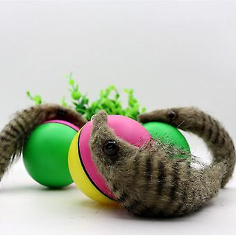 Jumping Rolling Chasing Moving Pet, Weasel Activation Ball Kids Beaver Toy