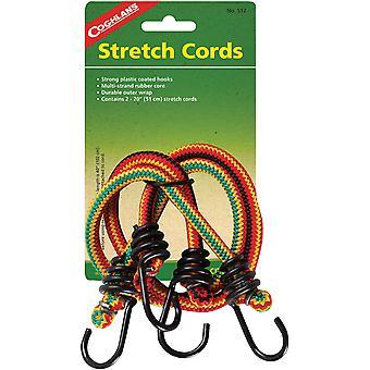 """Cuerdas elásticas de Coghlan's 20"""" con ganchos (2 pack), Bungee Rope Outdoor Camping Wrap"""