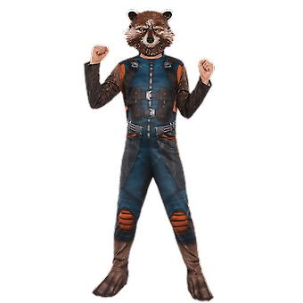 Boys Age 3-10 Years Rocket Racoon Costume Guardians of the Galaxy Fancy Dress