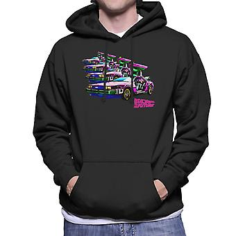 Back to the Future Delorean Mirrored Men's Hooded Sweatshirt