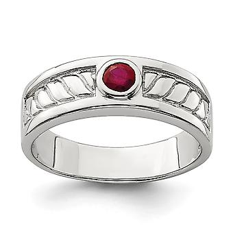 925 Sterling Silver Mens Ruby Ring Jewelry Gifts for Men - Ring Size: 9 to 11