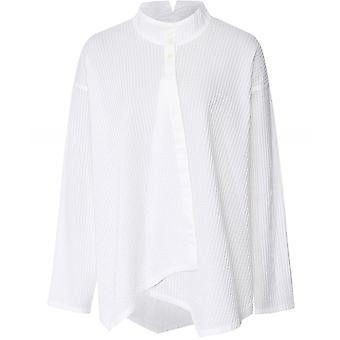 Yaccomaricard Asymmetric Pintuck Shirt