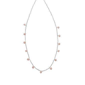 Anfänge Sterling Silber Rose Perle Halskette N4392P