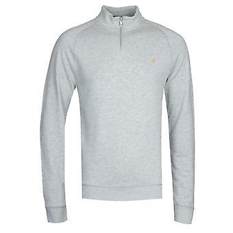 Farah Jim Quarter-Zip Light Grey Marl Sweatshirt