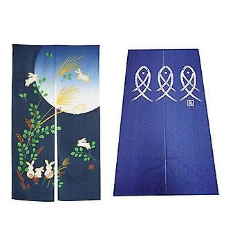 Girls And Cherry Blossom Window Treatment Tapestry & Doorway Curtain- Noren