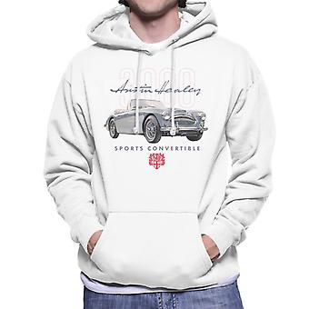 Austin Healey 3000 Convertible British Motor Heritage Men's Hooded Sweatshirt