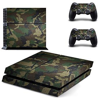 Camouflage Plastic Vinyl Skin Sticker For Sony Playstation- 4 Console With 2