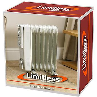 Kingfisher 1500w White 7 Fin Oil Filled Radiator Electric Heater
