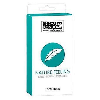 Secura kondome naturaleza sensación ultra delgado condones paquete de 12
