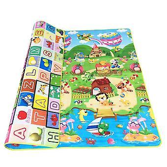 Tapis de jeu rampant épais de bébé, jouet éducatif d'alphabet