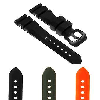 Strapsco rubber-watch-strap-with-matte-black-pre-v-buckle