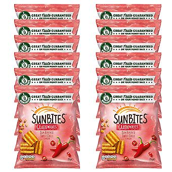 12 x 28g Sunbites Sweet Chilli Grain Crisps Chips Snack Food Lunch Party