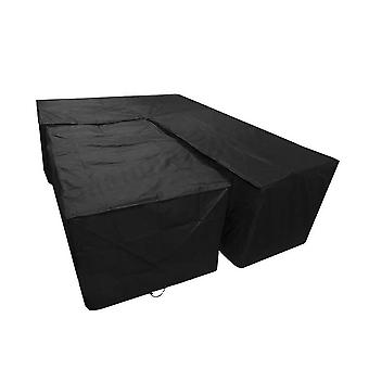 Garden furniture cover, terrace furniture waterproof and windproof protective cover, rectangular dustproof furniture protection pad and cover