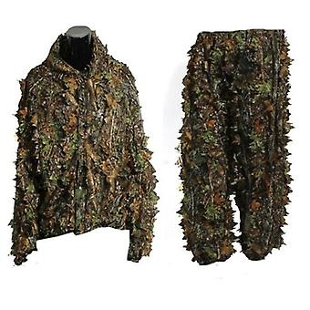 Haine de vanatoare 3d Maple Leaf, Costume Bionic Ghillie, Yowie Sniper Birdwatch,