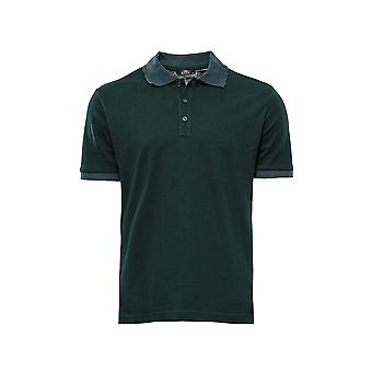Green oxford polo collar t-shirt