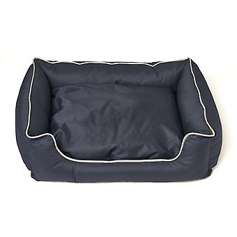 Animal Basket Frits - Dark Blue with White Edges - Size M