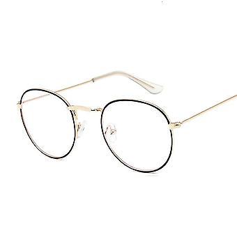 Pyöreät säteet läpinäkyvät lasit kehykset, miehet, naiset vintage optinen myopia