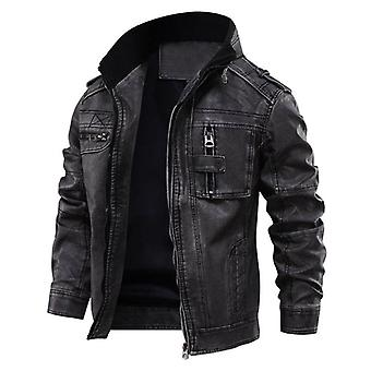 Leather Man Jackets, Male Coats, Winter Warm, Cool Motorcycle Outerwears