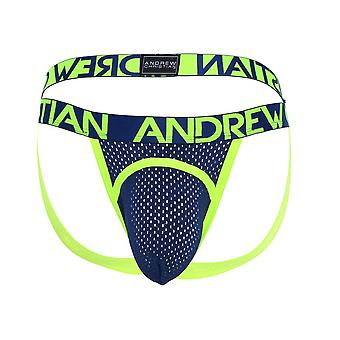 אנדרו כריסטיאן ספורט רשת קשת ספורטאי w / כמעט עירום   הלבשה תחתונה לגברים   מגן ביצים לגברים (ארוטי)