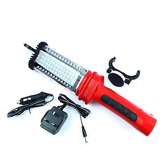 Lampe de travail conduite hyfive avec 78 torche rechargeable led's ultra lumineuse avec conception sans fil et pince d'aimant et chargeur suspendu de crochets inclus