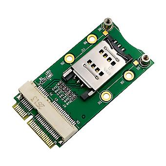 Mini PCI-E Adapter with SIM Card Slot  for 3G/4G WWAN LTE GPS card  Green