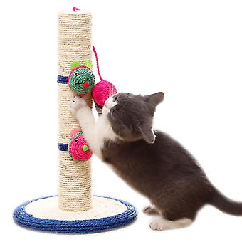 "16"" Tall Cat Scratching Post, Claw Scratcher With Sisal Rope,pet Supplies"