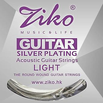 6 Strings Acoustic Guitar Silver Plating