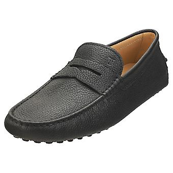 TOD'S Gommino Mens Loafer Shoes in Black