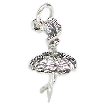Ballerina Sterling Silver Charm .925 X 1 Ballet Ballerinas Danceing Charms - 3364