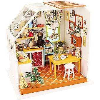 ROBOTIME Miniature 3d Model Kitchen Kits to Build Craft Construction DIY Dolls House