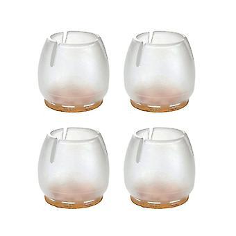 Bouchon de chaise transparent avec feutre 17 - 21 mm (poche 4 pièces) (1 pièce)