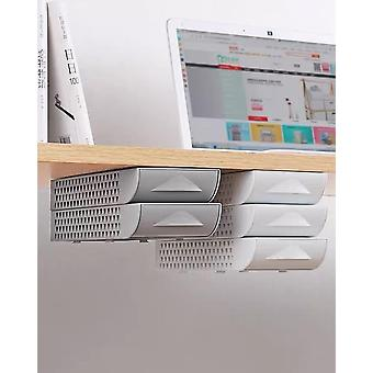 Stackable Hidden Office Drawer Organizer - Under Desk Pen Holder
