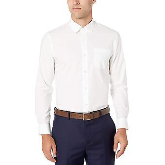 Essentials Men's Slim-Fit Wrinkle-Resistant Stretch Dress Shirt, White...