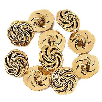 Shank Buttons Floral Pattern Decorative Fasteners