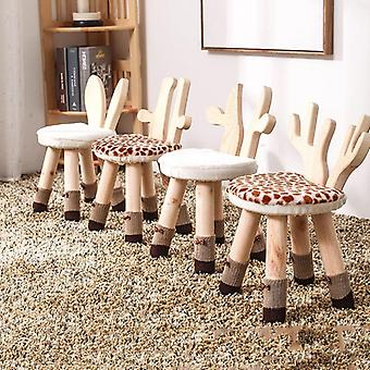 Kids Stool Solid Wood Chair For Cartoon
