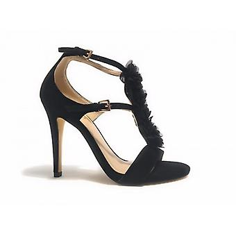 Sapatos femininos Liu-jo Modelo Aiko Suede Black Tc 100 Ds17lj04