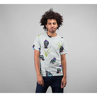 Bird pattern premium sublimation adult t-shirt
