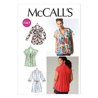 McCall Schnittmuster 6899 Misses Tops Tunika Größe Y XSM-MED