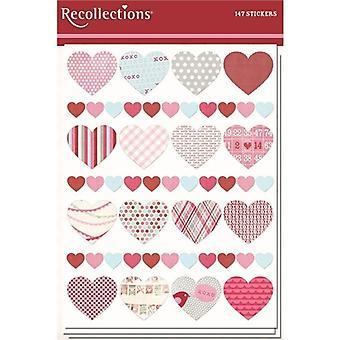 My Minds Eye - Love Me Sticker Sheets Hearts
