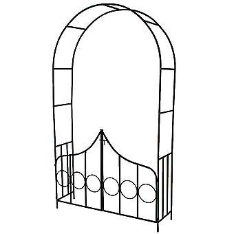 tectake Rosenbåge med dörr av stål