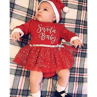 Uusin saapuminen 0-24m joulumekko, Prinsessa mekko
