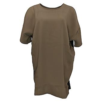 Lisa Rinna Collection Women's Top Short-Sleeve Tunic Brown A367990