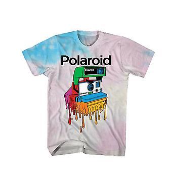 Polaroid Dripping Camera Tie Dye T-Shirt