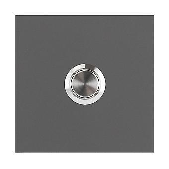MOCAVI RING 110 design klocka grå-aluminium (RAL 9007) fyrkantig matt