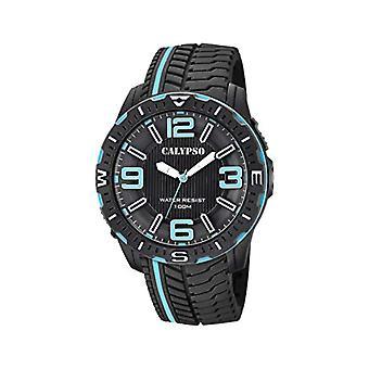 Calypso kellot analoginen katsella miesten kvartsi muovihihna K5762/2