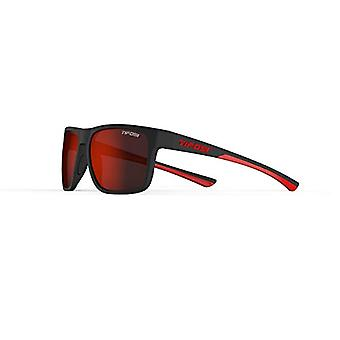 Swick Fans - Unisex sunglasses with single lenses, color: Satin Black/Crimson/Smoke Red, one size fits all