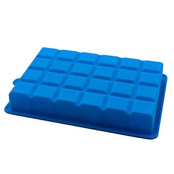 24 Grid Silicone Ice Cube Tray Molds DIY Desert Cocktail Juice Maker Square Mould (Blue )